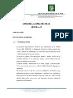 Especificaciones Técnicas Generales Final