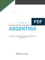 1er_ Plan de Acción ARGENTINA