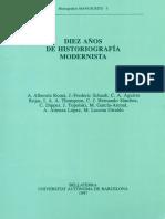 Diez años de historiografía modernista