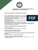 Temario III Congreso de Funcionarios