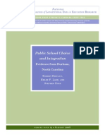 Public School Choice and Integration in NC