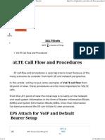 VoLTE Call Flow and Procedures