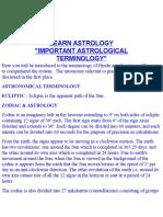 Astro Terminlogy