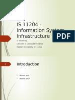 Information System Infrastructure