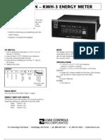 KWH 3 Digital Energy Meter