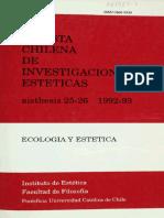 Fidel Sepúlveda Estetica Etica Ecologia Aisthesis 25-26-1992 1993