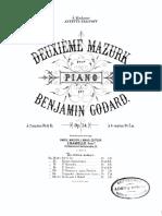 Benjamin Godard - 2me Mazurk - Sheet Music