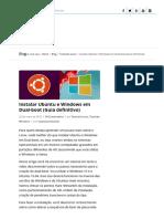 Instalar Ubuntu e Windows Em Dual-boot (Guia Definitivo)