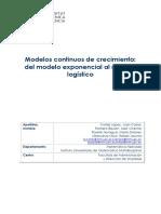 Modelos Continuos de Crecimiento Malthus