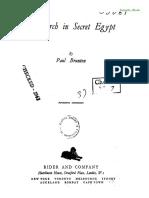 Brunton Paul - A Search in Secret Egypt