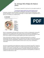 Padezco Alta Miopía, ¿Tengo Más Peligro De Padecer Enfermedades Oculares?