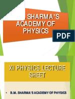 Xi Lecture Sheet