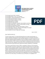 BORDC/DDF Letter to House Science Committee