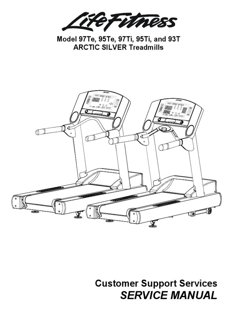 LifeFitness 97TE 95TE 95T 97T 93T Arctic Silver Service