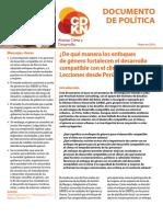Alianza Clima y Desarrollo - De Qué Manera Los Enfoques de Género Fortalecen El Desarrollo Compatible Con El Clima (Lecciones Desde Perú)