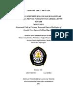 104370731 Laporan Kerja Praktek Pekerjaan Struktur Kolom Balok Dan Plat Lantai Pada Proyek Pembangunan Armada Town Square Magelang