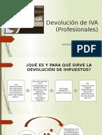 Devolución de IVA (Profesionales)