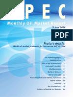 Reporte Mensual sobre el Mercado Petrolero