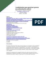 Manual de Procedimientos Para Germinar Granos Para Alimentación Animal
