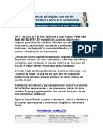 Programa Feria San Juan Del Rio 2016