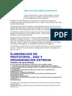 ELABORACION DE PROTOTIPOS , RAD Y PROGRAMACION EXTREMA