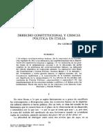 Derecho Constitucional y Ciencia Política en Italia (Giorgio Lombardi)