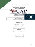 ProyectosEvaluación del nivel de riego por Final Ciclo ,IX