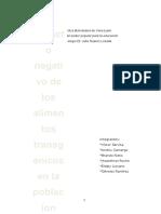 Proyecto FRUTAS TRANSGENICAS