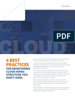 4 Best Practices for Monitoring Cloud Infrastructure