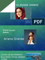 Biografia de Ariana Grande
