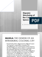 Hispanic Structuring of the Colonial Space Xxxx
