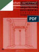 Arquitectura Occidental Norberg Schulz