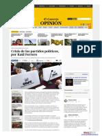 La crisis de los partidos políticos, por Raúl Ferrero