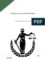 Analisis juridico de los delitos contra el patrimonio en mexico.