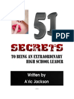 51 Secrets to Being an Extraordinary High School Leader - E Book