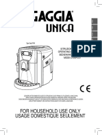 Gaggia Unica User Manual