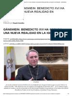 21_05_2016_ Gänswein_ Benedicto Xvi Ha Creado Una Nueva Realidad en La Iglesia _ Ratzinger - Gänswein