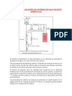 Procedimiento de Diseño de Sistemas de Agua Caliente Domésticos