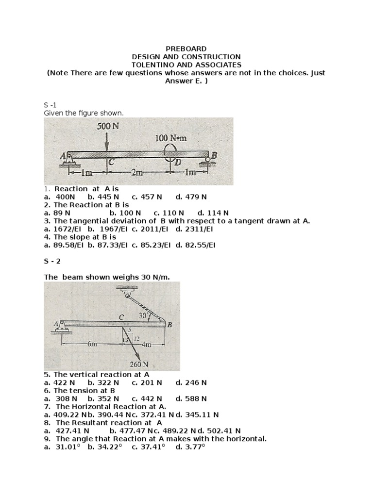 Design Exam (1)shfhsdhsdh | Beam (Structure) | Bending