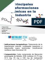 Principales Transformaciones Químicas en La Industria Power Point