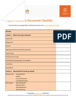 Pid Checklist
