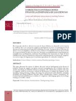 Discurso Didactico e Interacciones Sustitutivas