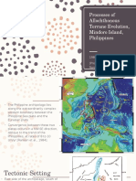 Processes of Allochthonous Terrane Evolution, Mindoro Island