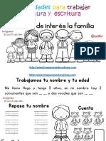 Tabajamos La Lecto Escritura Centro de Interes a Familia PDF.