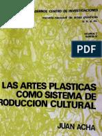 ACHA JUAN Artes Plasticas Como Sistema de Produccion Cultural (1)