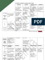 English Yearly Scheme of Work Year 3