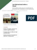 O Olhar Da Imprensa Internacional Sobre o Impeachment No Brasil — CartaCapital