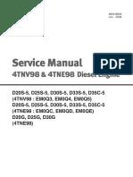 Service Manual Motor Yanmar 4TNE98 - 4TNV98 DIESEL