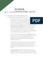 IGCSE Edexcel Russia Revolution 1914-1924