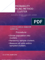 Probability Sampling Method Cluster